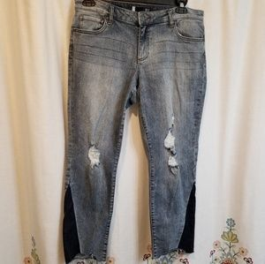 Kut Reese ankle straight leg jeans